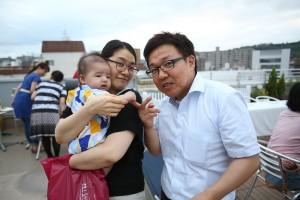 産休中の白川さんが息子さんを連れて来て下さいました♡♡ 右はパパではありません(笑)